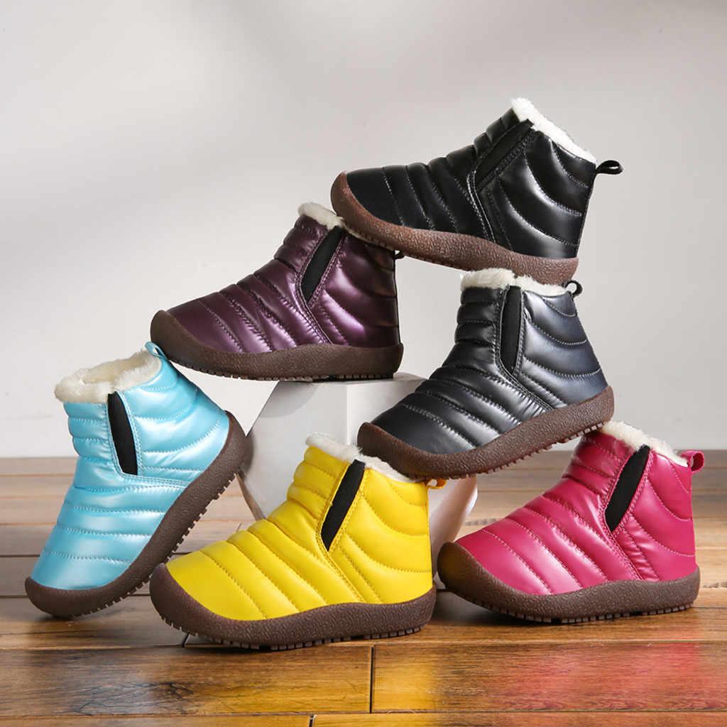 2019 детская обувь для девочек, сапоги для малышей, зимние короткие ботильоны, непромокаемая обувь, теплая обувь, zapatos Niza, детская обувь