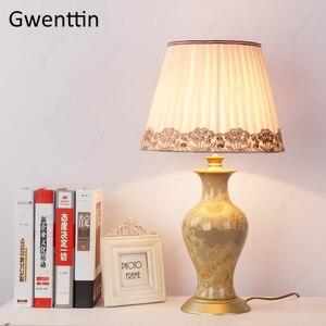 Image 2 - Lâmpadas de mesa cerâmica para sala estar cabeceira europa decoração da sua casa moderna led luminárias mesa luz luminarias nightstand lâmpada