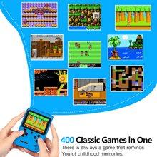 Retro przenośna Mini przenośna konsola do gier 800mAh bateria 3 0 Cal kolorowy wyświetlacz LCD kolorowy odtwarzacz gier dla dzieci wbudowany w 400 gier tanie tanio ONLENY 3 0 XD102