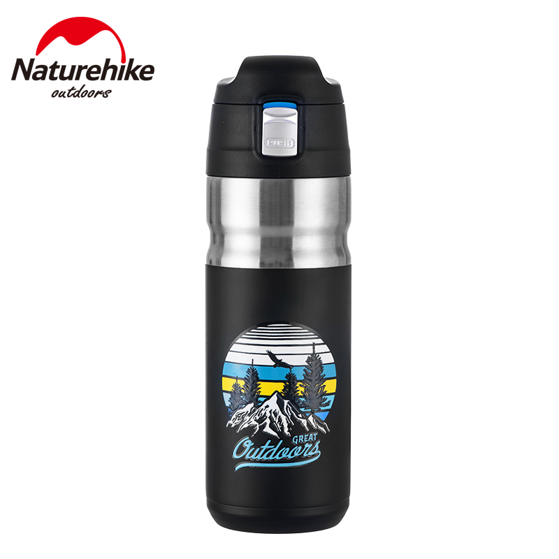 Naturehike Insulation Cup 316 Stainless Steel 500ml Portable 24 Hour Heat/Cold Preservation Travel Outdoor Bounce Cap