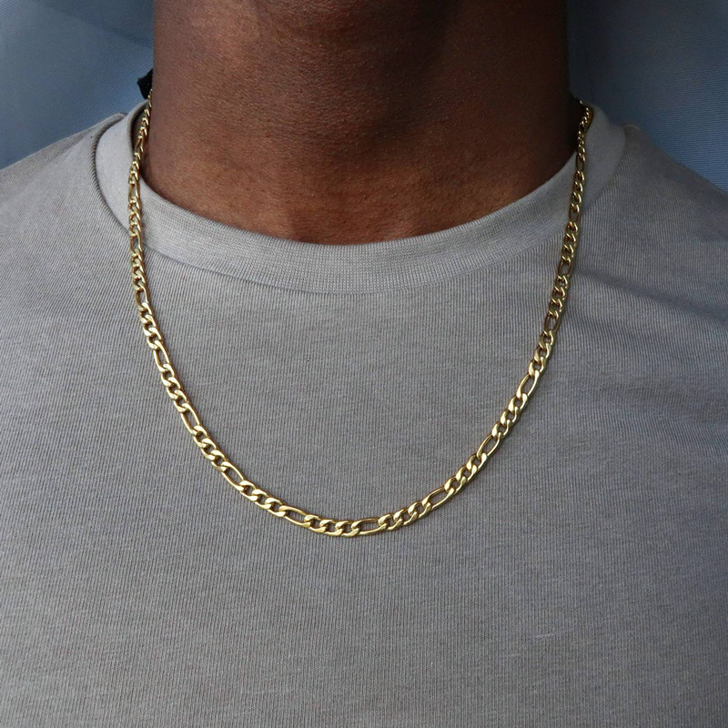 2020 Fashion Classic Figaro Chain Necklace Men Stainless Steel  Long Necklace For Men Women Chain Jewelry