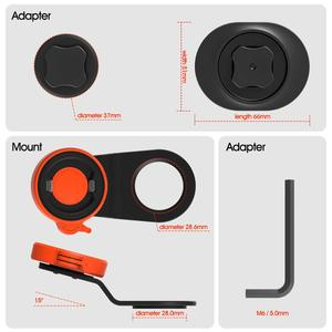 Image 5 - Mountain Bike Bicycle Mobile Phone Sticker Mount Phone Holder Riding Strong Adhesive Support Stand Paste Adapter Clip for iPhone