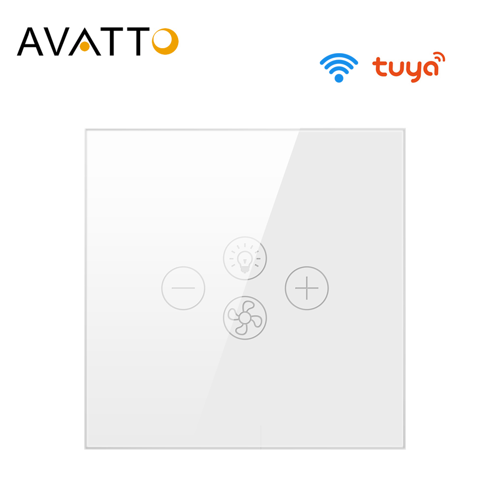 AVATTO Tuya Wifi Fan Light Switch Smart Ceiling Fan Lamp Switch with Various Speed Voice Controlled by Alexa Google Home