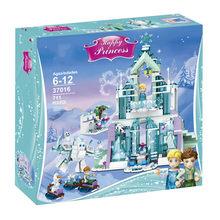 731 pçs nova rainha da neve magia castelo de gelo tijolo bloco de construção brinquedos e leginglys namoradas montagem brinquedos para meninas presentes do feriado