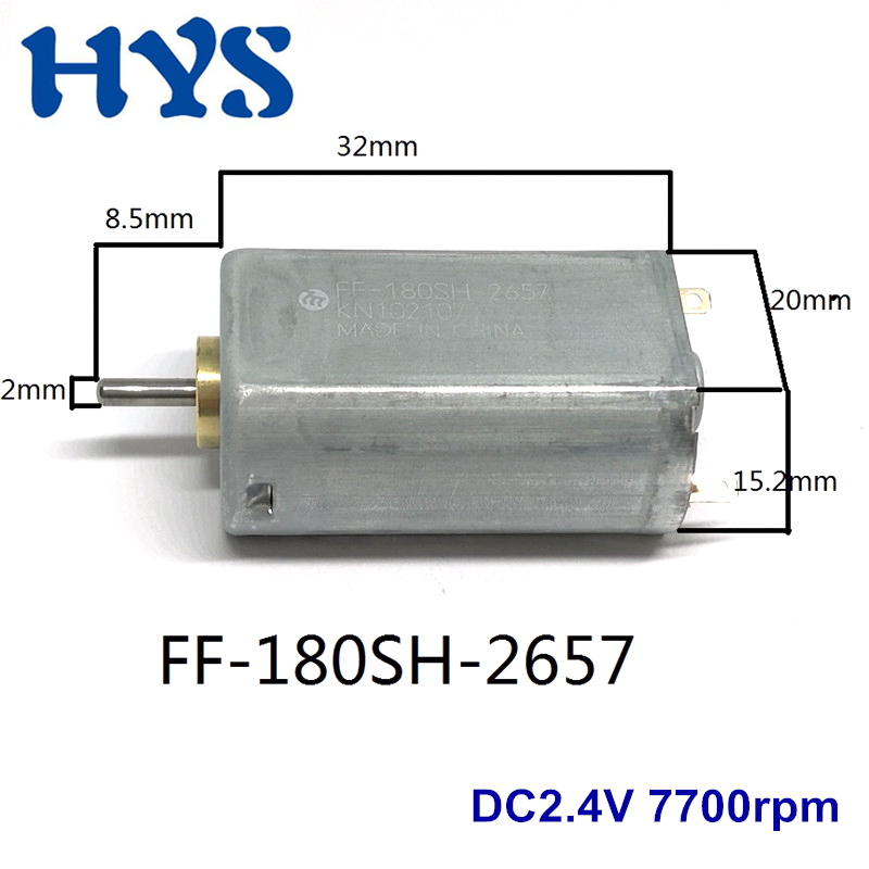 DC 2.4V~6V 15000RPM High Speed Metal Brush Mini FF-180 Motor for Electric Shaver