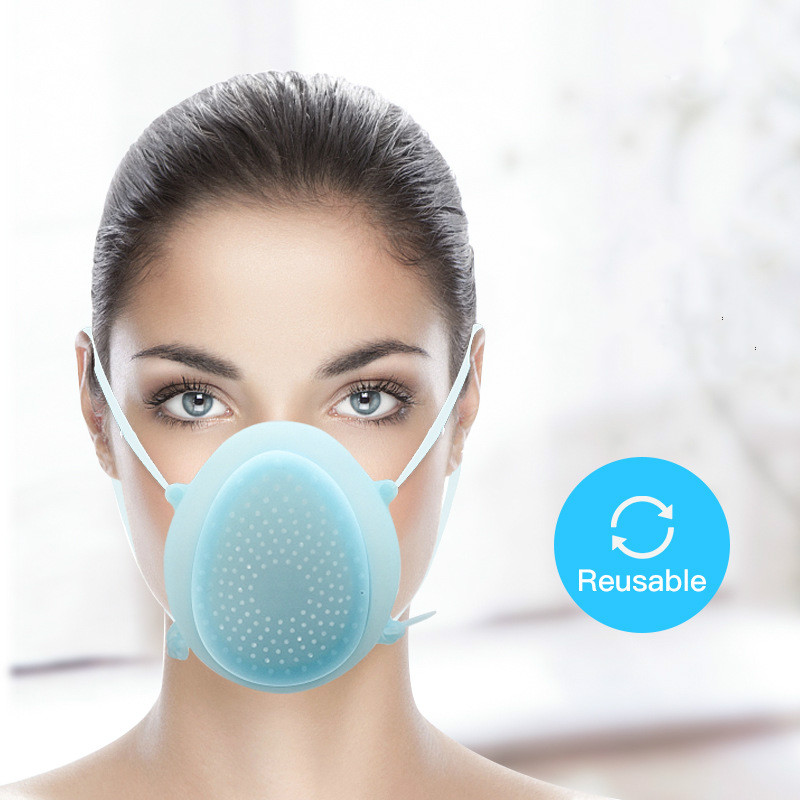 1 Mask + 10 Filters Silicone Mask Mask Breathable Respirator Mascara Mask Unisex Reusable Mask