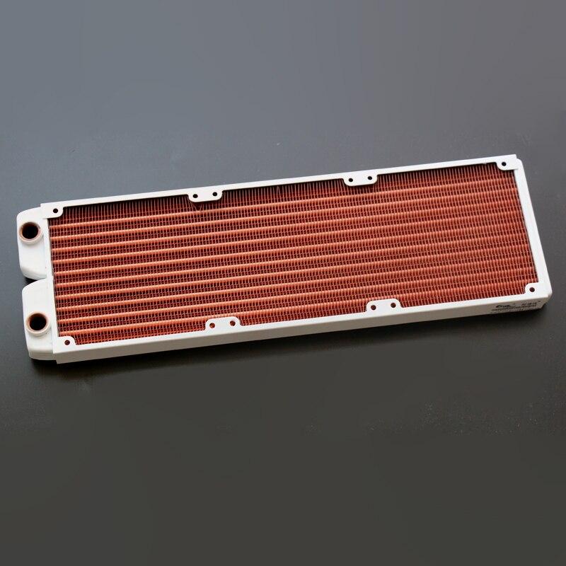 Ke Ruiwo Катюша серии 360 мм полностью красный медный радиатор водяного охлаждения подходит для вентиляторов 120 мм