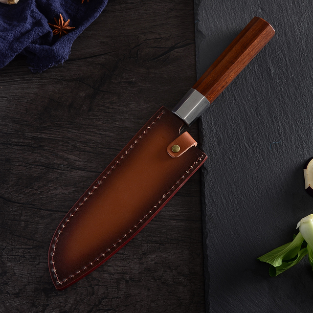 QING High Quality Stainless Steel Forged Knives Hammer Blade Kiritsuke / Chef / Santoku / Nakiri Kitchen Cleaver Cooking Tool