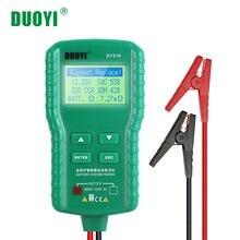 Duoyi dy219 12v testador de bateria carro digital automotivo ah cca tensão analisador carga da bateria multifunções ferramenta de diagnóstico mini
