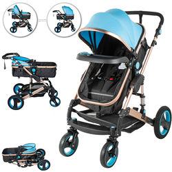 2 in 1 Pram Foldable Pushchair 0-36 Month Baby Stroller flexible turn  Newborn Reversible