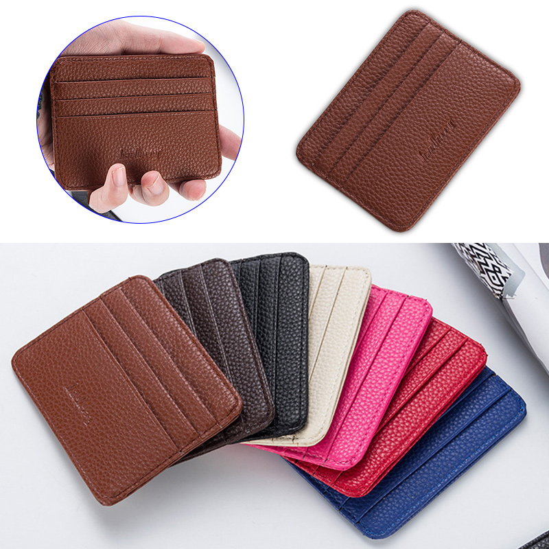 New Fashion Women Slim Minimalist Wallet PU Leather Credit Card Holder Short Purse K-BEST
