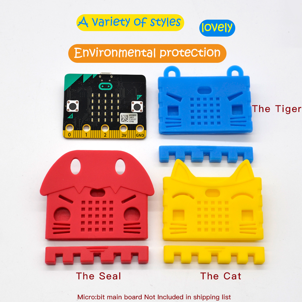 Case Silicone Colorful Cover Box Protective Shell For BBC Micro:bit Board Kids Education