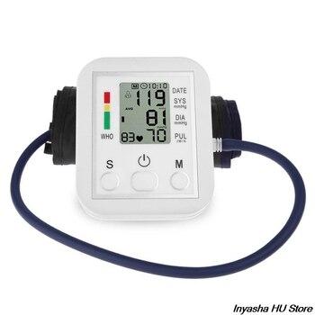 Otomatik Dijital üst Kol Kan Basıncı Monitörü Kalp Yendi Hızı Darbe ölçer Tonometre Tansiyon Aleti Pulsometer