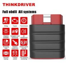 THINKCAR – Thinkdriver Scanner professionnel de voiture, outil de Diagnostic automobile, système complet, Bluetooth, réinitialisation de lhuile, OBD2