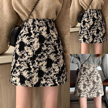 Short Skirts Printed-Strap Elastic Harajuku Vintage Fashion Women Ladies Slim Sexy