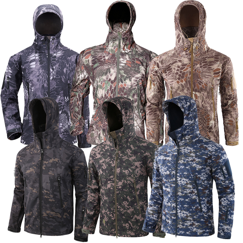 New Outdoor Waterproof Jackets Hunting windbreaker Jackets Camo Hooded Rain Jackets Ski Tactical Hunting Hiking Jackets Coat Men|Hiking Jackets| |  - title=