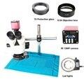 3.5X-45X 7X-45X Тринокулярный Стерео микроскоп + 13MP HDMI VGA видео микроскоп камера + 56 LED свет + Универсальный кронштейн + паяльник
