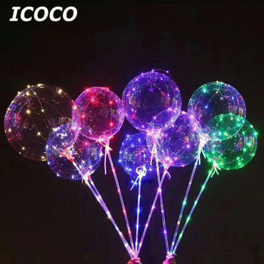 2018 New 18 Inch Romantic Luminous LED Balloon Transparent Led Ball Reusable Bubble Light For Home Party Wedding Decor Hot Sale