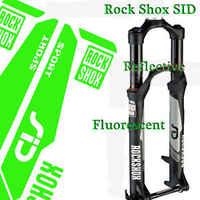 SID RockShox-pegatinas de horquilla para bicicleta de montaña, calcomanías reflectantes para carreras de montaña