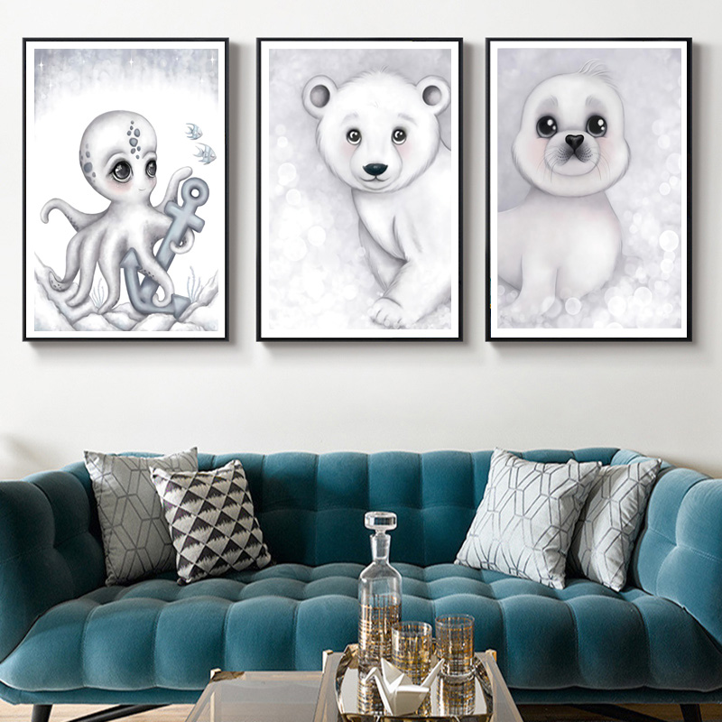 Алмазная живопись «сделай сам» уплотнение полярный медведь пингвин
