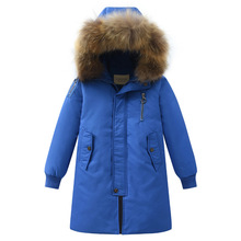Chłopcy gruby długi płaszcz ubrania dla dzieci dół park płaszcz zimowy chłopcy odzież dziecięca kurtka zimowa dla dzieci odzież dla dzieci tanie tanio DINOSKULLS Włókno poliestrowe 0 8kg Moda Białe kaczki dół Stałe long Z kapturem zipper REGULAR Pasuje prawda na wymiar weź swój normalny rozmiar