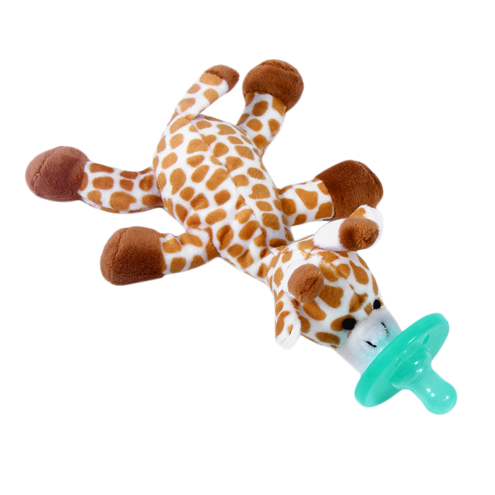 Cute Funny Newborn Baby Food-grade Silicone Cartoon Animal Pacifier With Soft Plush Toy BPA Free Dummy Nipple Teat Soother-4