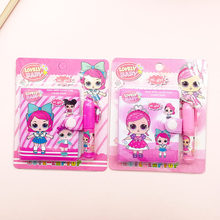 1pc Doll Notebook with Ballpoint Pen Cute Kawaii Girl Writing Diary Book for Kids Gift School Stationery Supply(China)