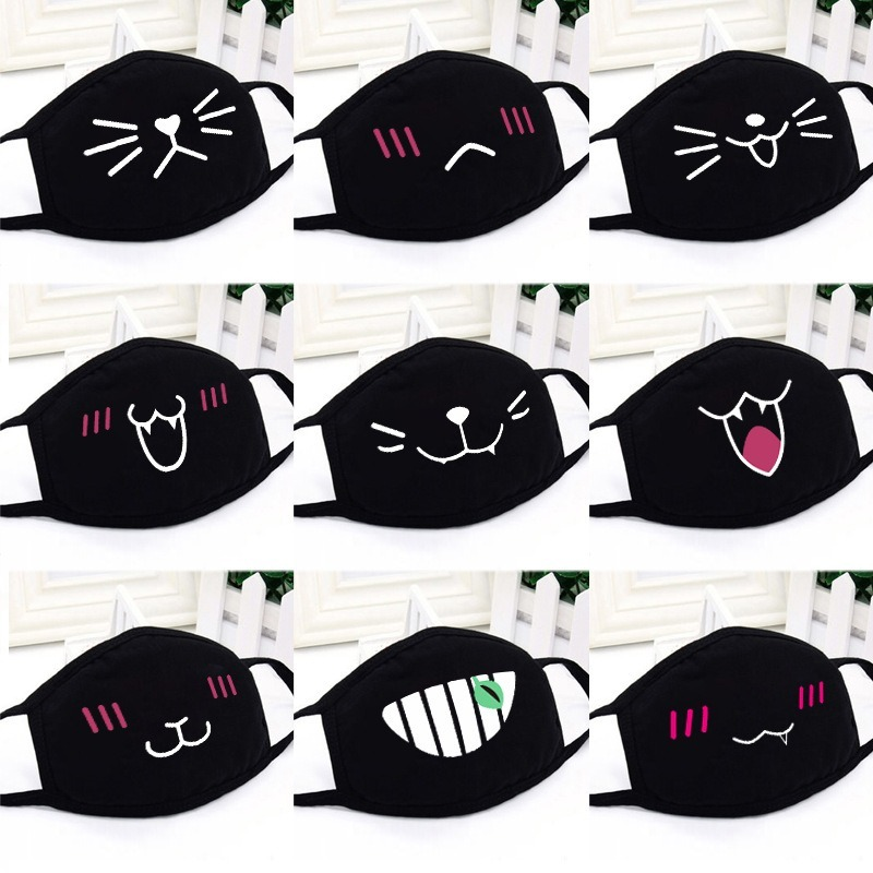 Cartoon Dust Mask Women Masks Cotton Creative Cute Korean Men Personality Comfortable Lovers Black Girls Fashion Autumn Winter