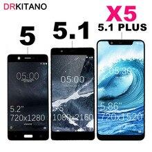 ЖК дисплей для Nokia 5,1 Plus, тачскрин TA 1024 1027 1044 1053 1008 1030 1109 1075 для Nokia 5 5,1 Plus, ЖК дисплей X5