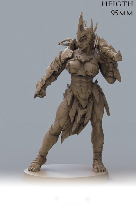 1/18 95mm  Anicent Fantasy  Woman Warrior Stand (NO BASE ) Resin Figure Model Kits Miniature Gk Unassembly Unpainted