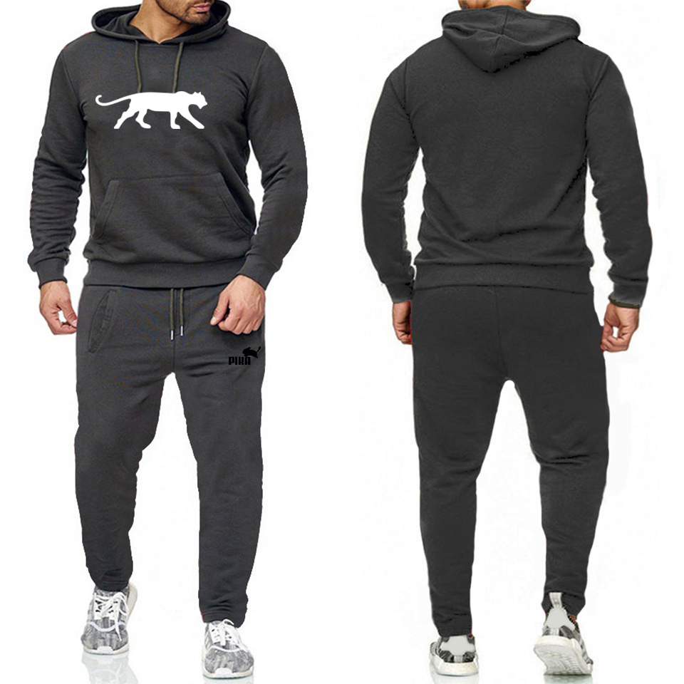 2020New Hot Brand Men's Pullover Hooded Autumn/Winter Mens Sportswear Sets Hoodies/sweatpants Two Pcs Set Bodybuilding Tracksuit