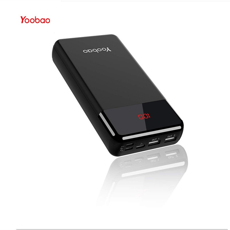 Yoobao Power Bank 20w 20000mAh For IPhone Portable External Battery Charger Digital Display For Xiaomi Huawei P20 Powerbank in Power Bank from Cellphones Telecommunications