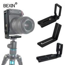 Placa en L de Disparo Vertical para cámara Dslr soporte de montaje de placa en L de liberación rápida para cámara Canon Nikon Sony rótula de bola de trípode