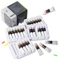 Tavolozza 24 Colors Tubes Acrylic Paint Set 22ML with Storage Box, Rich Pigments, Non Fading, Non Toxic Paints for Artist