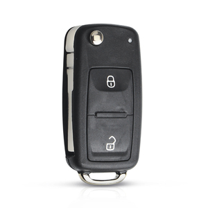 Image 3 - KEYYOU 3 Button Flip Remote Key Shell Car Key Case For VW VOLKSWAGEN Tiguan Golf Sagitar Polo MK6 caddy passat b6 Auto Keys Case
