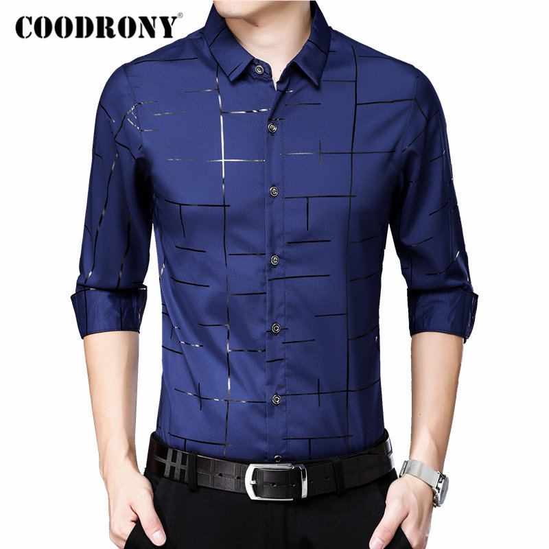 COODRONY Men Shirt Long Sleeve Shirt Men 2019 New Arrival Autum Business Casual Shirts Streetwear Fashion Camisa Masculina 96074