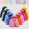 Детский Повседневный пуховик на 90% белом утином пуху, зимняя куртка для мальчиков и девочек, детская одежда, зимний комбинезон