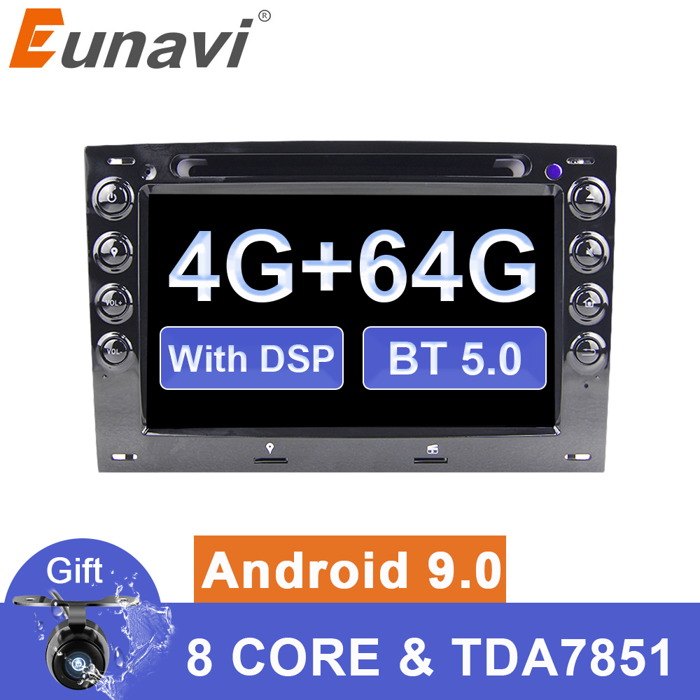 Eunavi <font><b>2</b></font> din Android 9 Automotivo Car <font><b>DVD</b></font> player for Renault <font><b>Megane</b></font> <font><b>2</b></font> ii 2006 2007 2008 2009 2010 Radio <font><b>GPS</b></font> navi Multimedia DSP image