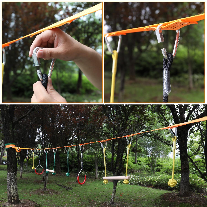Children Climbing Ninja Rope Ninja Line Obstacle Training Equipment Kids Fun Slack Line Outdoor Children's Sports Equipment