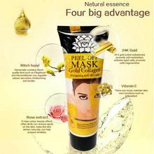 24K Gold Collagen Whitening Anti-aging Anti-wrinkle Face Mask Skin Care Peel Off Nourishing Maquillaje Maquiagem TSLM1