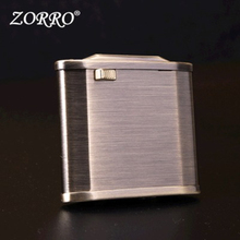 Zorro Retro Flint Lighter Pure Copper Kerosene Lighter Oil Petrol Windproof Inflated Gasoline Lighter Automatic Ignition Gadget chairman mao pattern stainless steel plastic windproof oil lighter red