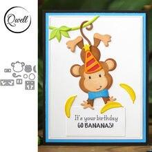 Qwell металлические штампы с изображением животных обезьяны