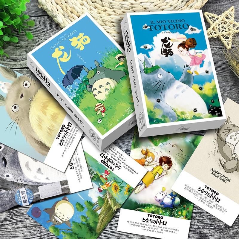 36Sheets/Set Kawaii Totoro Postcard /Greeting Card/Message Card/Christmas And New Year Gifts