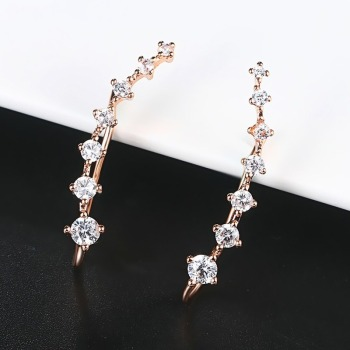 4 Styles Elegant Star Ear Hook Clip Earrings for Women Fashion Jewelry Metal Alloy Cubic Zirconia.jpg 350x350 - 4 Styles Elegant Star Ear Hook Clip Earrings for Women Fashion Jewelry Metal Alloy Cubic Zirconia Pierced Party Anniversary
