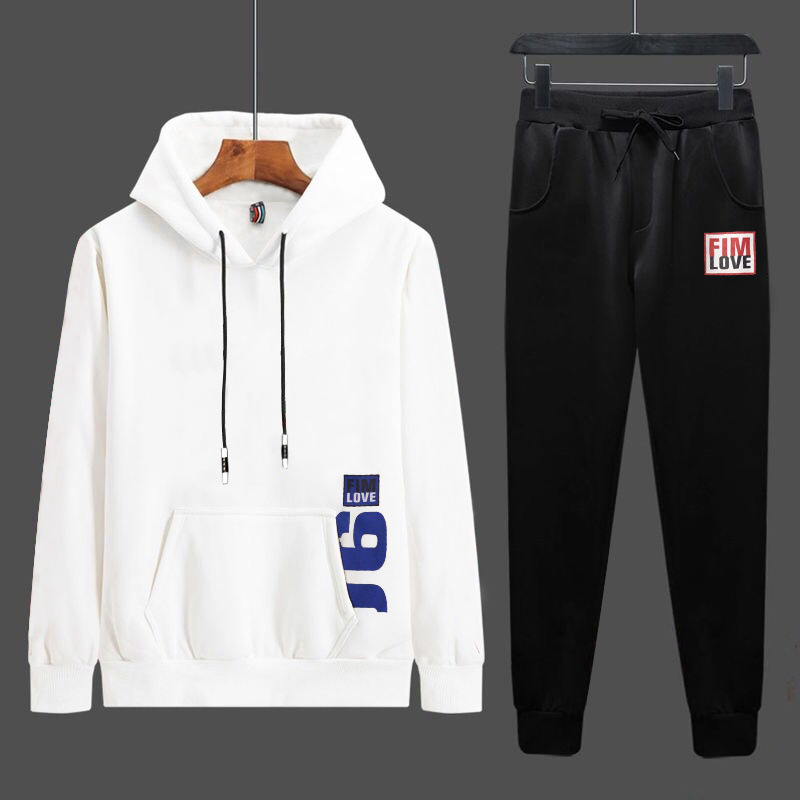 2019 Spring And Autumn New Style Men's Hoodie Set Casual Two-Piece Set Simple And Comfortable Fitness Home Sports Clothing