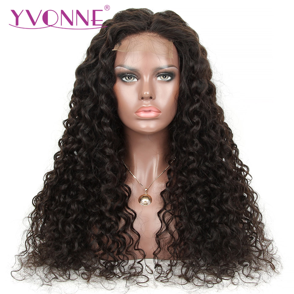 Yvonne DIY Lace Closure Wig Italian Curly Human Hair Bundles With Closure 4x4 Brazilian Human Hair Wigs