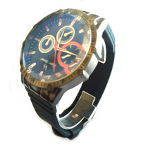 Stainless Steel Quartz Watches Double-Layer Literal Three-eye Mens and Womens Leisure Alloy