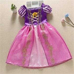 Image 4 - בנות מסיבת שמלת ילדים שלג לבן ליל כל הקדושים תלבושות תינוקת נסיכת שמלת חג המולד אורורה סופיה Belle שמלת עבור 2 3 4 5 6 7Y