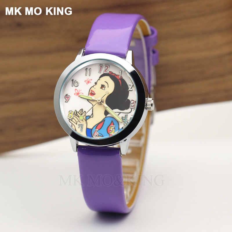 Luksusowa marka biały śnieg piękny Cartoon piękna księżniczka dzieci chłopcy dziewczęta dzieci zegarek kwarcowy zegarek zegar prezent bransoletka rola