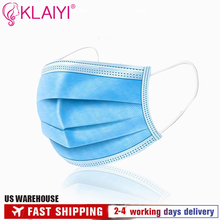 Fast Shipping Anti-Virus Respirator Disposable Face Masks 3-layer Mask Face Mouth Masks Soft Breathable Masks for hair salon use